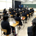 We went to Tatsuno Kita High School for a delivery lecture.